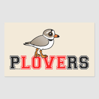 Plovers Love Rectangle Sticker