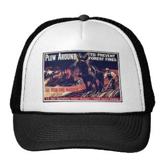 Plow Around To Prevent Forest Fires Trucker Hat