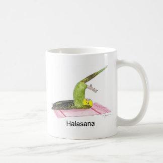 Plow pose parakeet mug
