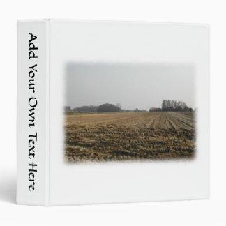 Plowed Field in Winter. Scenic. 3 Ring Binder