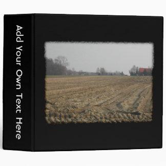 Plowed Field in Winter. Scenic. Binder