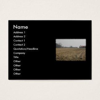 Plowed Field in Winter. Scenic. Business Card