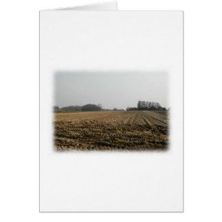 Plowed Field in Winter. Scenic. Card