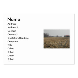 Plowed Field in Winter. Scenic. Large Business Card