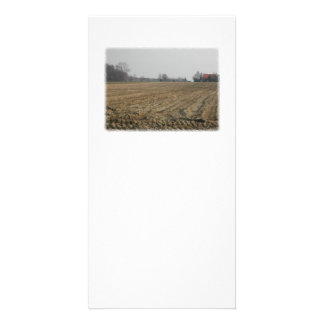 Plowed Field in Winter Scenic Photo Card Template
