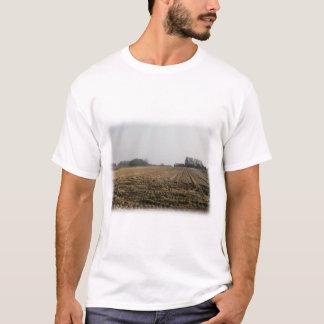 Plowed Field in Winter. Scenic. T-Shirt