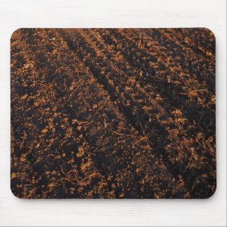 Plowed soil mouse pad