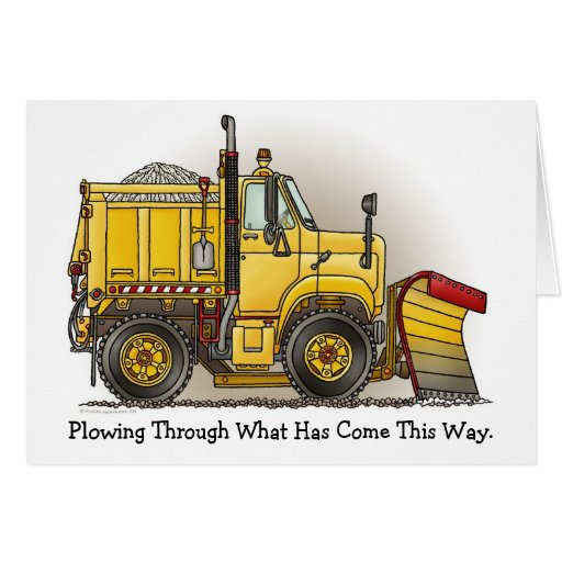 Plowing Through Snow Plow Truck Note Card