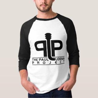 PLP Mens 3/4 Sleeve Raglan, White/Black T-Shirt