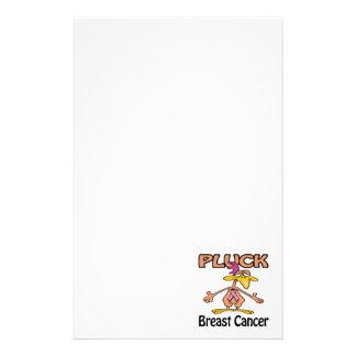 Pluck Breast Cancer Awareness Design Stationery Design