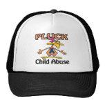 Pluck Child Abuse Awareness Design Hat