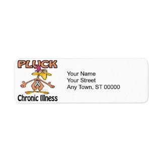 Pluck Chronic Illness Awareness Design Label
