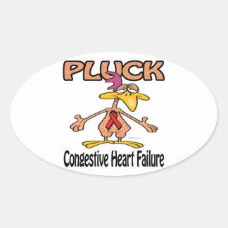 Pluck Congestive Heart Failure Awareness Design Oval Sticker