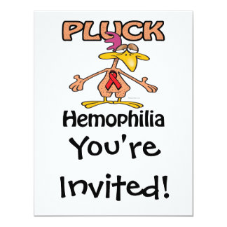 Pluck Hemophilia Awareness Design 4.25x5.5 Paper Invitation Card
