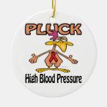 Pluck High Blood Pressure Awareness Design Christmas Ornament