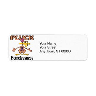 Pluck Homelessness Awareness Design Return Address Label