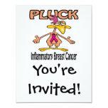 "Pluck Inflammatory Breast Cancer Awareness Design 4.25"" X 5.5"" Invitation Card"