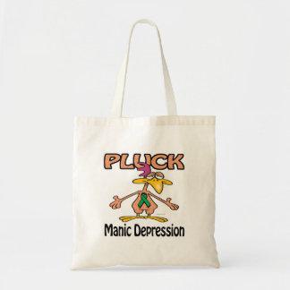 Pluck Manic Depression Awareness Design Budget Tote Bag
