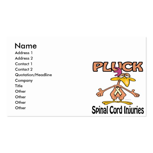 Pluck Spinal Cord Injuries Awareness Design Double-Sided Standard Business Cards (Pack Of 100)