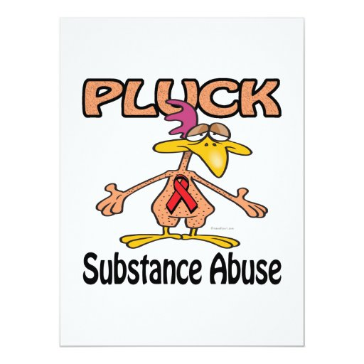 Pluck Substance Abuse Awareness Design 6.5x8.75 Paper Invitation Card