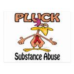 Pluck Substance Abuse Awareness Design Postcard