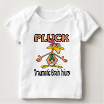 Pluck Traumatic Brain Injury Awareness Design Baby T-Shirt
