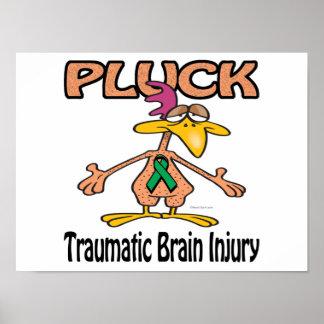 Pluck Traumatic Brain Injury Awareness Design Poster