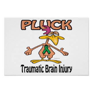 Pluck Traumatic Brain Injury Awareness Design Print