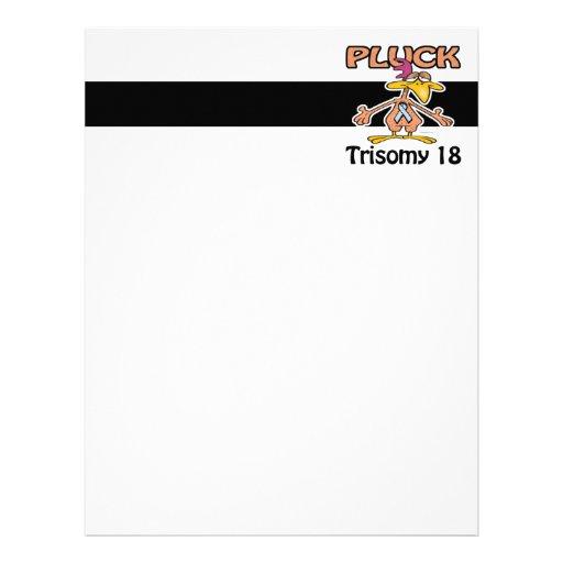 Pluck Trisomy 18 Awareness Design Letterhead Template
