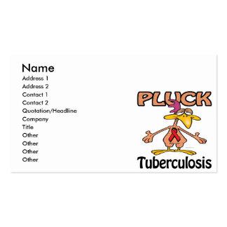 Pluck Tuberculosis Awareness Design Business Cards
