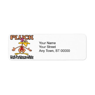 Pluck Wolf-Parkinson-White Awareness Design Return Address Label