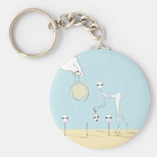 pluckin' joyful key chain