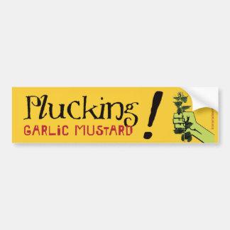 Plucking Garlic Mustard! Bumper Sticker