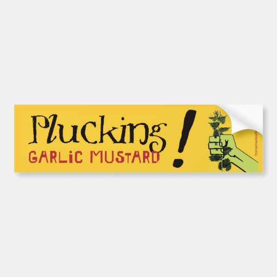 Plucking Garlic Mustard! Bumper Sticker