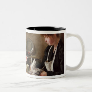 Plucking the Pigeon Two-Tone Coffee Mug