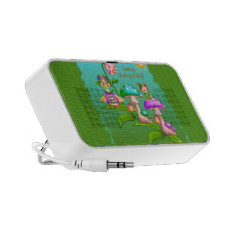Plucky Ducks Pixel Art Laptop Speaker