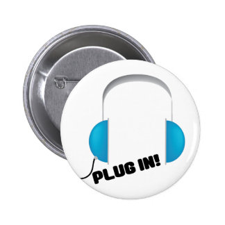 Plug In! Pinback Buttons