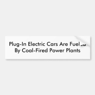 Plug-In Electric Cars Bumper Sticker