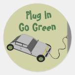 Plug In, Go Green - stickers