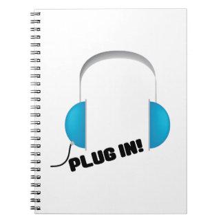 Plug In! Spiral Notebook