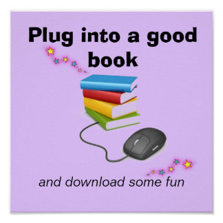 Plug Into A Good Book Literacy Poster