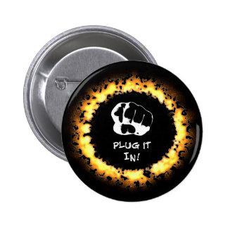 Plug It In! - Orange Pin