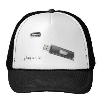 Plug me in (hat) trucker hat