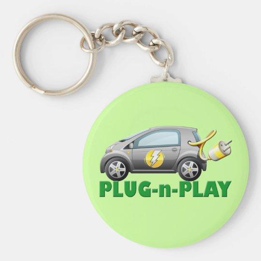 PLUG-N-PLAY ELECTRIC CAR KEYCHAIN