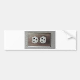 Plug Outlet Bumper Sticker
