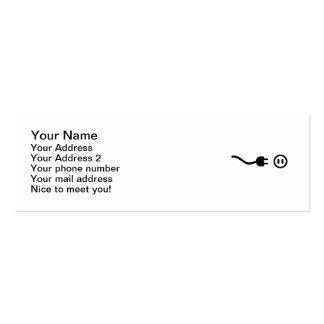 Plug outlet mini business card