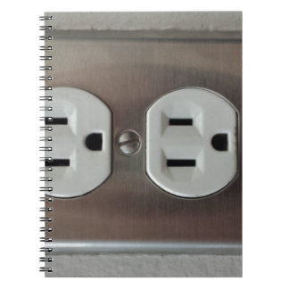 Plug Outlet Spiral Notebook
