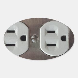 Plug Outlet Oval Sticker