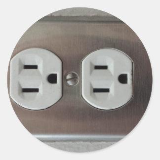 Plug Outlet Sticker