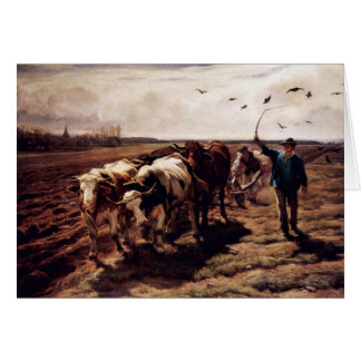 Plügende Ox By Koller Rudolf (Best Quality) Greeting Card